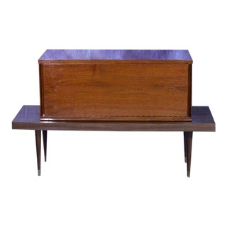 Mid-Century Modern Walnut Bar Table For Sale