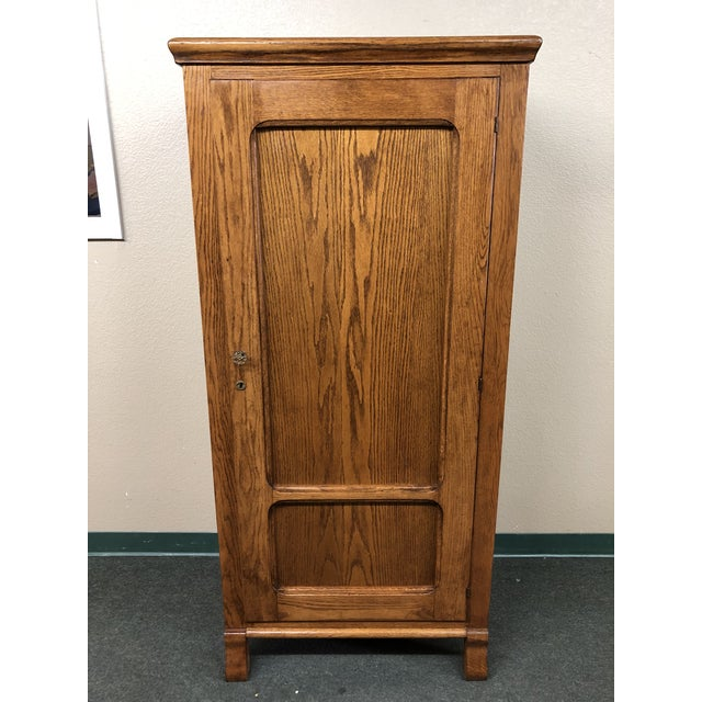 Converted Oak Armoire For Sale - Image 12 of 12