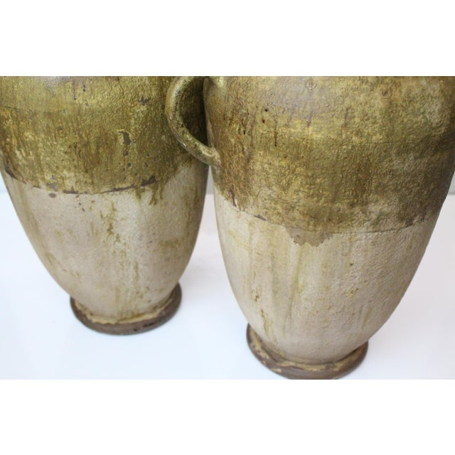 Rustic Aluminum Urns - a Pair For Sale In New York - Image 6 of 7