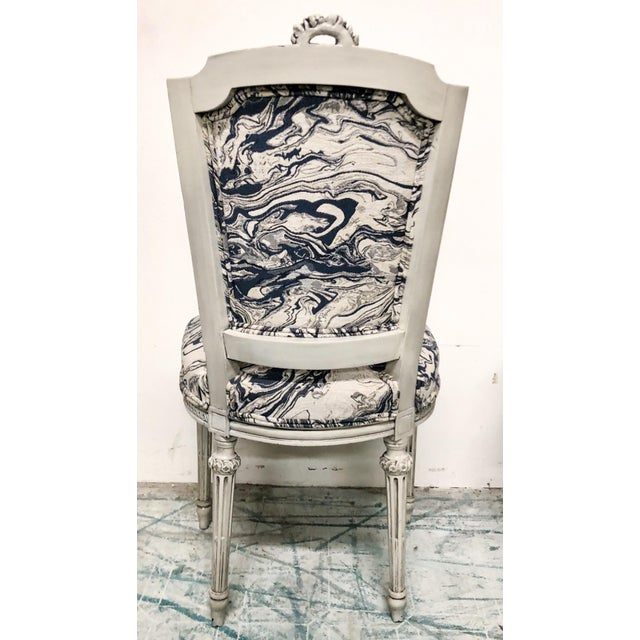 Set of 6 Antique French Dining Chairs For Sale - Image 4 of 7