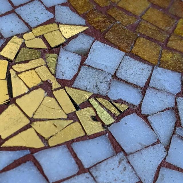 Black Artisan Midcentury Modern Mosaic Table For Sale - Image 8 of 13