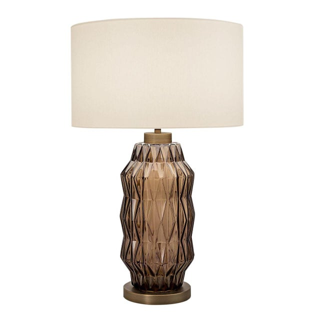 Mid-Century Modern Laguna Column Table Lamp in Mocca Colour For Sale - Image 3 of 3