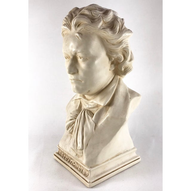 20th Century Contemporary Alexander Backer Co Ivory Colored Beethoven Bust For Sale - Image 4 of 11