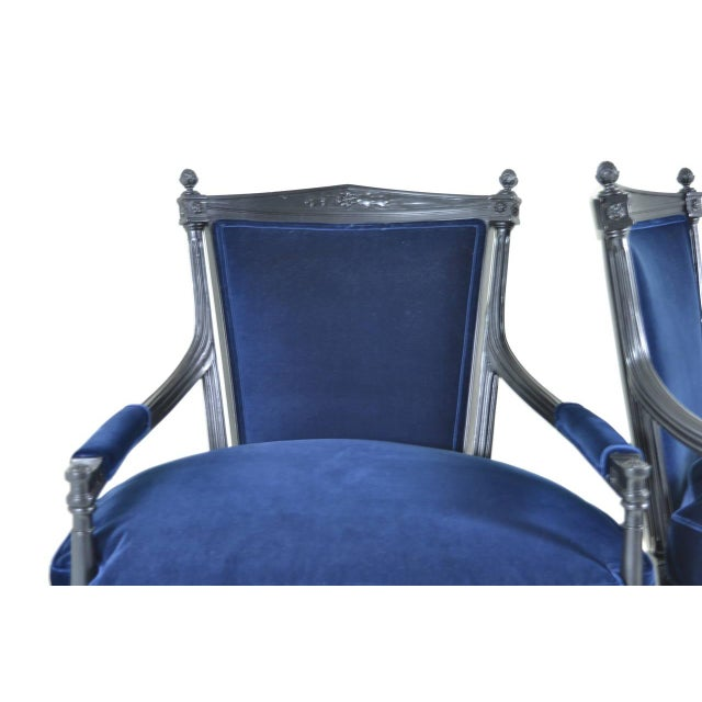 Pair of Directoire Style Fauteuil Chairs - Image 6 of 10