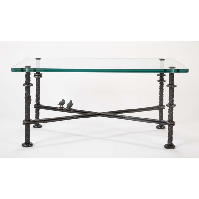Patinated Wrought Iron Coffee Table by Llana Goor For Sale In New York - Image 6 of 13