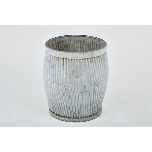 Metal 1990s English Zinc Garden Pots - a Pair For Sale - Image 7 of 10
