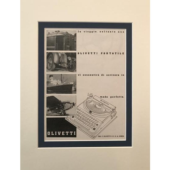 Contemporary 1940 Original Italian Poster, Olivetti Advertisement - Typewriter For Sale - Image 3 of 3