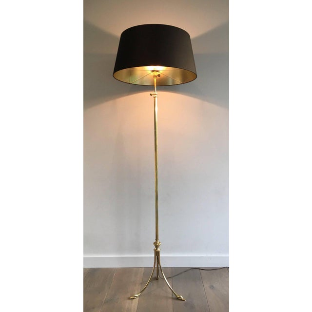 1940s French Brass Floor Lamp by Maison Jansen - Image 3 of 11