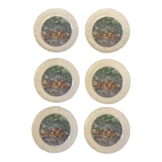 "Gien France ""Les Saveurs"" Appetizer Plates - Set of 6 For Sale"