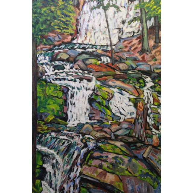 Early 20th Century Antique Ede Else Waterfall Painting For Sale - Image 4 of 5