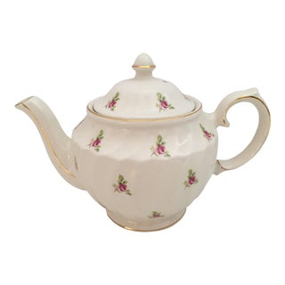 Shabby Chic Sadler Windsor Gold Gilt Tea Pot For Sale