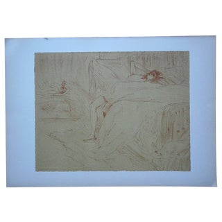 """Toulouse Lautrec """"Elles/Women"""" Vintage Lithograph For Sale"""