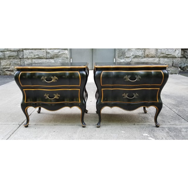 Union National Furniture Co Vintage Bombay Style Night Stands-A Pair For Sale - Image 13 of 13