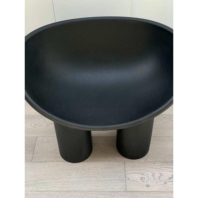 Modern Black Roly Poly Chair by Driade For Sale - Image 3 of 4