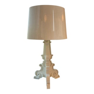 Bourgie Lamp by Kartell Cream/Gold With Shade For Sale