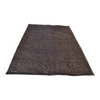 """William Switzer Leather Woven Rug-6'x8'10"""" For Sale"""
