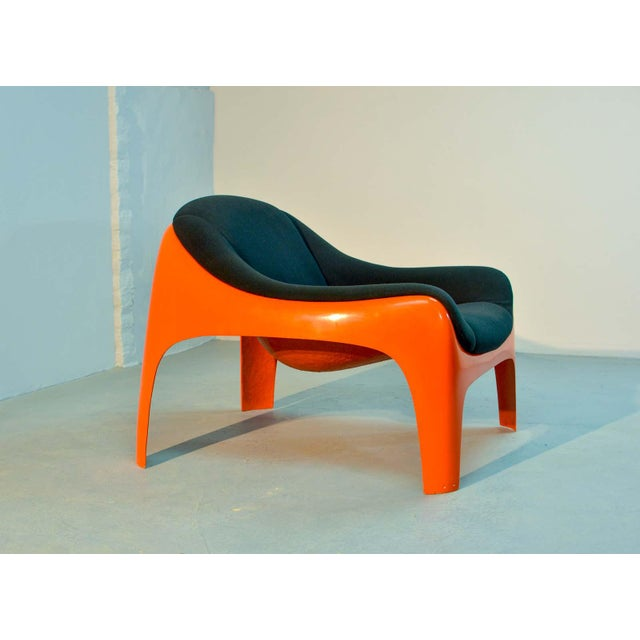 Italian Iconic Mid -Century Design Italian Fiberglass Lounge Chair by Sergio Mazza for Artemide, 1960s For Sale - Image 3 of 11