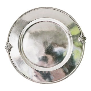 Antique Silver Plated Tray From the Savoy Plaza Hotel NYC For Sale