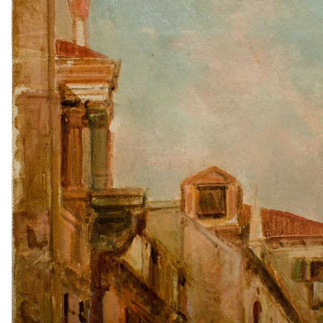 """19th Century """"Venice in June"""" Cityscape Oil Painting by Alfred Pollentine For Sale In Philadelphia - Image 6 of 10"""
