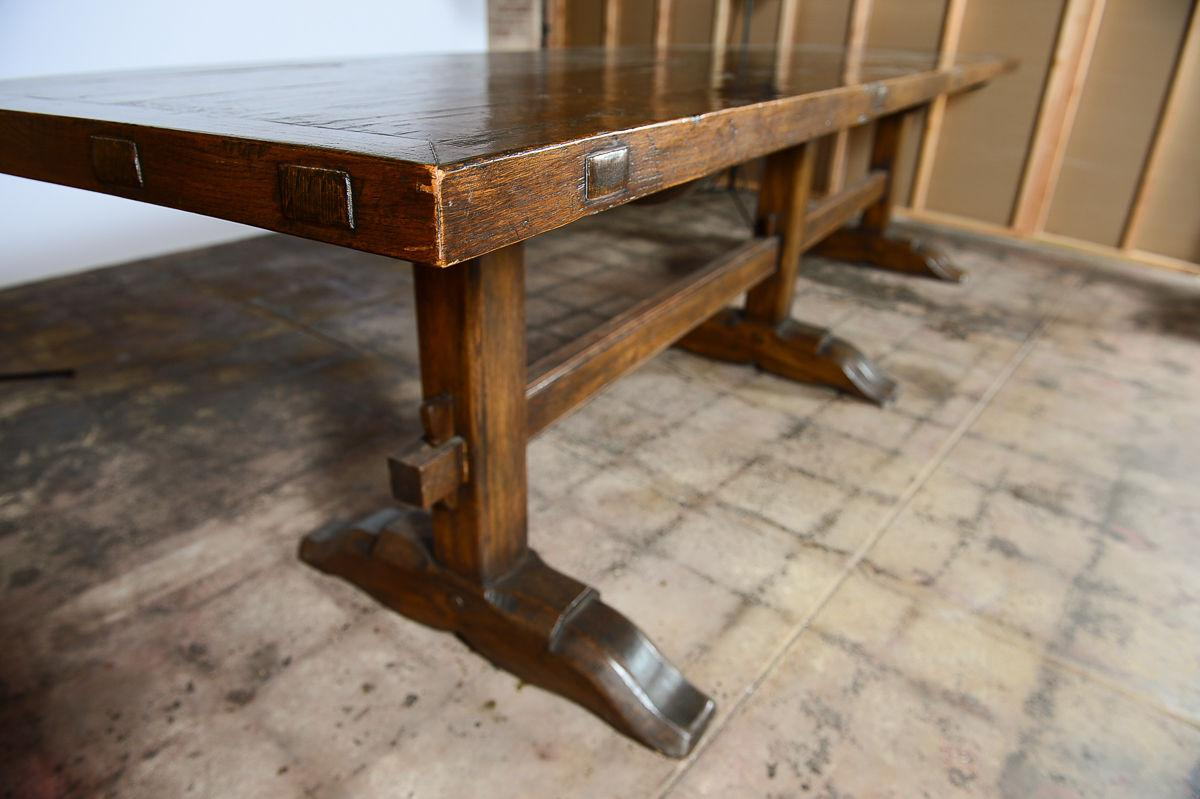 Superieur Antique Spanish Dining Trestle Table For Sale   Image 7 Of 9