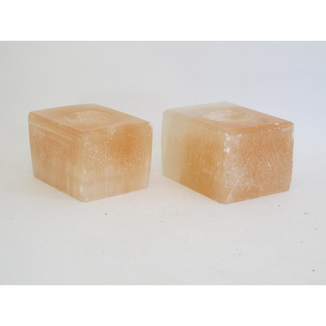 Pink Calcite Votive Candle Holders - A Pair - Image 5 of 7