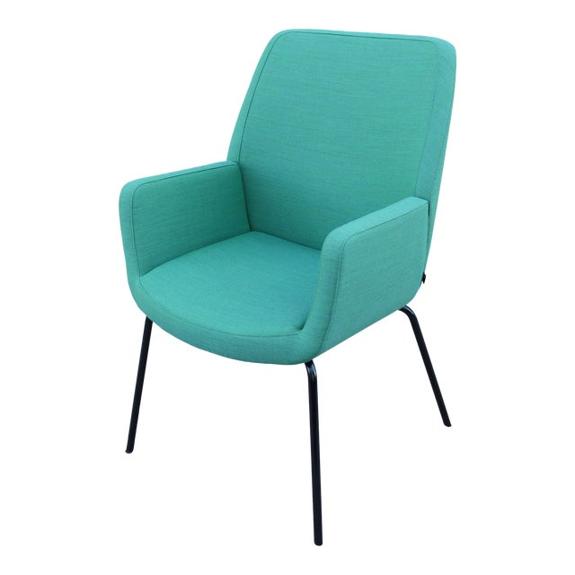 Modern Brian Kane for Coalesse and Steelcase Bindu Green Guest Chair For Sale