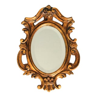 Petite Gilded Italian Mirror For Sale