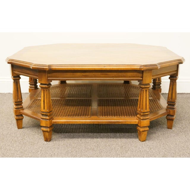 Brown Late 20th Century Vintage Mersman Rustic Country Octagonal Coffee Table For Sale - Image 8 of 10