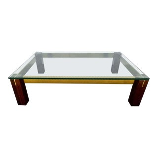 Italian 1960s Coffee Table after Milo Baughman For Sale