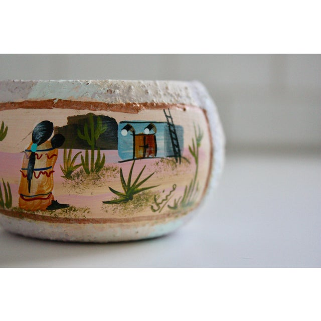 Painted Native American Pot - Image 8 of 8