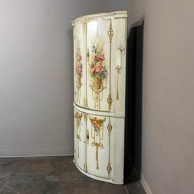 Mid 19th Century 19th Century Swedish Painted Corner Cabinet For Sale - Image 5 of 13