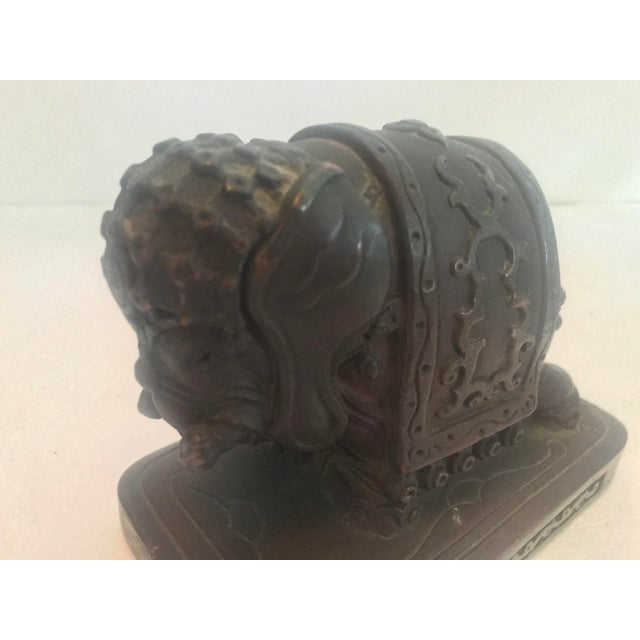 Metal Armor Bronze Company 1920s Elephant Bookends - a Pair For Sale - Image 7 of 13
