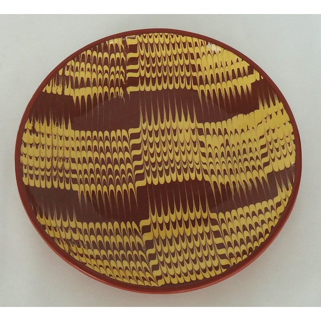 Marbled Redware Pottery Catchall Dish - Image 5 of 8