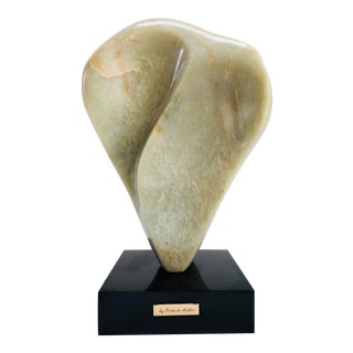 Noguchi Inspired Mid-Century Modern Abstract Biomorphic Marble Sculpture For Sale