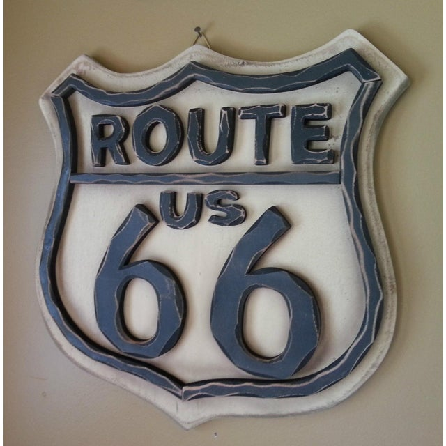 Route 66 Wood Wall Sign - Image 5 of 7