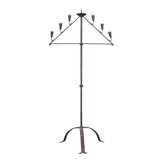 Early 18th Century English Forged Iron Candelabra For Sale