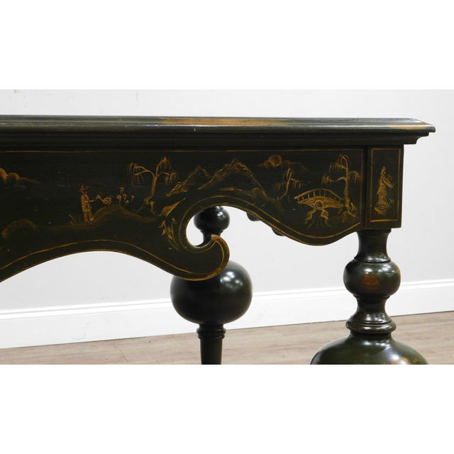 Banks Coldstone Co. Handpainted Green Table For Sale - Image 12 of 13