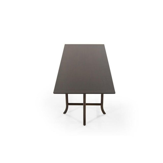 Mid 20th Century T.H. Robsjohn-Gibbings Walnut Sabre Leg Coffee Table C. 1956 For Sale - Image 5 of 11