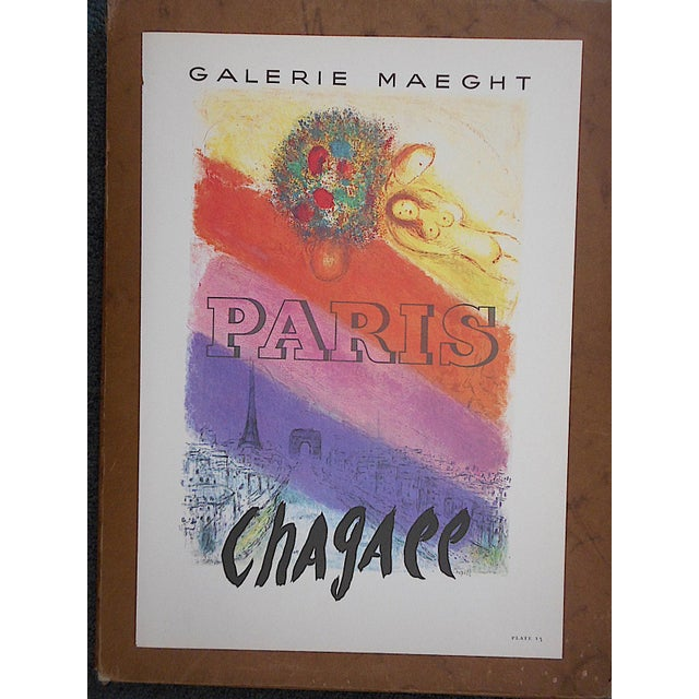 Modern Vintage Marc Chagall Lithograph-Folio Size-c.1966 For Sale - Image 3 of 3