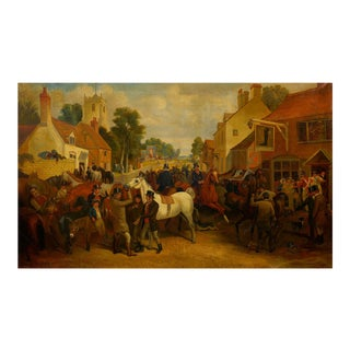 """Circa 1845 """"Barnet Fair"""" Antique Painting of Horses by Thomas Smythe (English, 1825-1906) For Sale"""