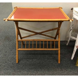 Boho Chic Faux Bamboo Folding Table Preview