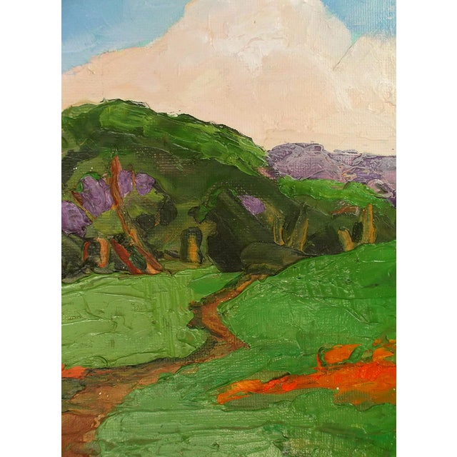 Lynne French California Landscape Poppy Hills Original Painting For Sale In Los Angeles - Image 6 of 6