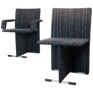 Pair of Upholstered Chairs by Giovanni Offredi for Saporiti For Sale