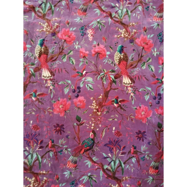 10 Yards Purple Chinoiseri Cotton Velvet For Sale