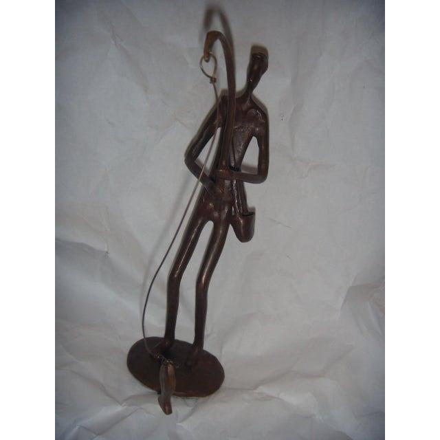 Bronze Fisherman Sculpture - Image 4 of 8