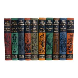 The Junior Classics Book Set - Set of 10 For Sale