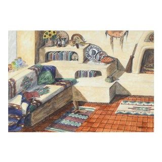 Unknown Southwest Living Room Interior Still Life 1997 For Sale