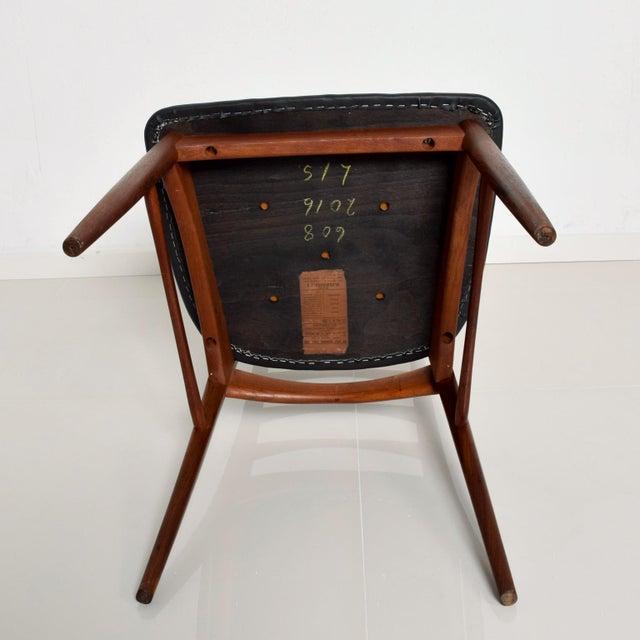 Set of 4 Danish Modern Teak Ladder Back Niels Koefoeds Dining Chairs Hornslet For Sale - Image 10 of 11