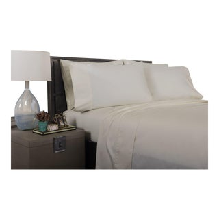 Florence Solid Flat Sheet King - Limestone For Sale