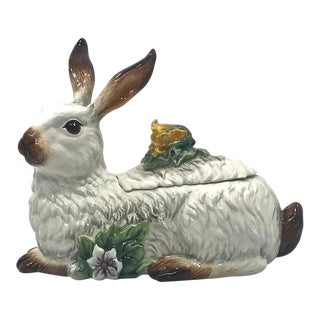 Fitz and Floyd Rabbit Cookie Jar/Tureen